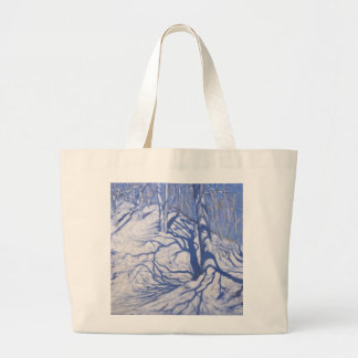 Winter Woodland near Courcheval 2008 Large Tote Bag