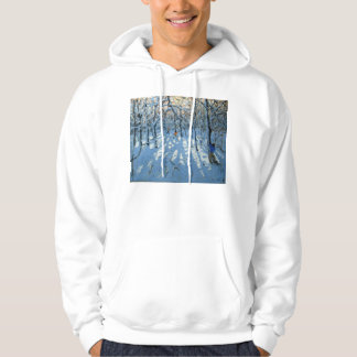 Winter woodland near Newhaven Derbyshire Hoodie