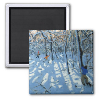 Winter woodland near Newhaven Derbyshire Magnet