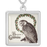 winter woodland owl necklace