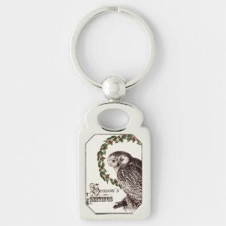 winter woodland owl keychains