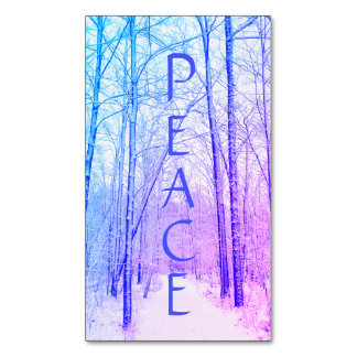 Winter Woodland Peace Magnet
