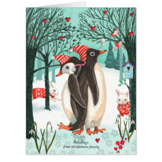 Winter Woodland Penguins | Big Greetings Cards