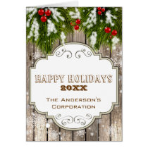 winter woodland pine Corporate Christmas Cards