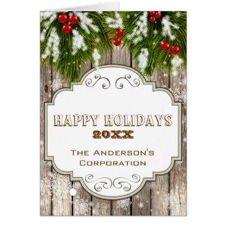 winter woodland pine Corporate Christmas Cards