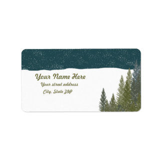 Winter Woods Address Labels