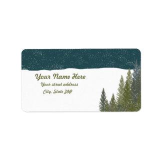 Winter Woods Address Labels