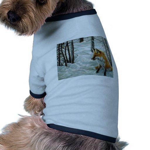 Winter woods, Fox Doggie Shirt