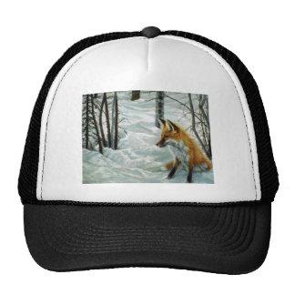 Winter woods Fox Mesh Hats