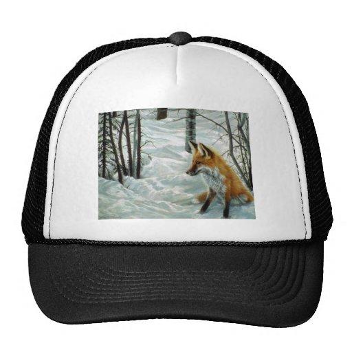 Winter woods, Fox Mesh Hats