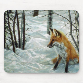 Winter woods, Fox Mouse Pad