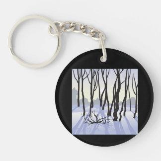 Winter Woods Keychain