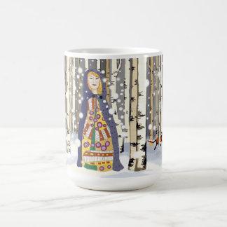 Winter woods mug