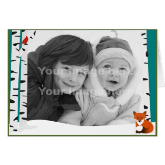 Winter Woods Photo Template Card