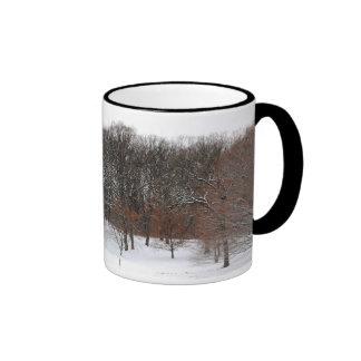 Winter woods. ringer mug