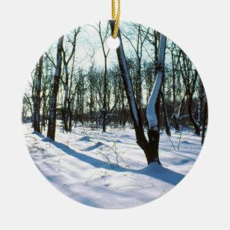 Winter Woods Round Ornament