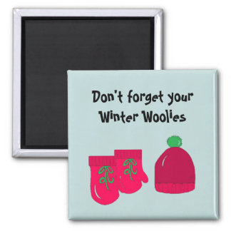Winter Woolies -  Mittens and Toque Refrigerator Magnet