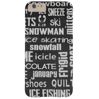 Winter Word Cloud Barely There iPhone 6 Plus Case