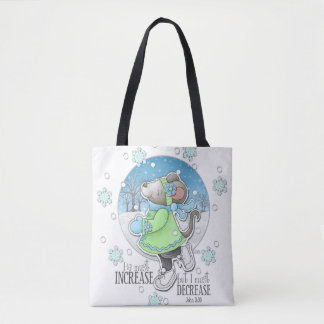 Winter Workout Mouse Tote Bag