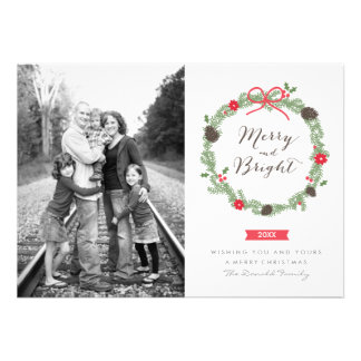 Winter Wreath by Holiday Photo Cards
