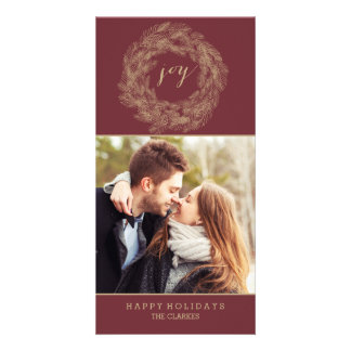 WINTER WREATH | JOY | STYLISH HOLIDAY CARD