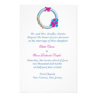 Winter wreath Wedding Invitation Stationery
