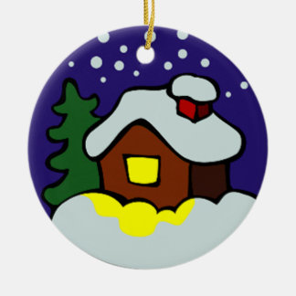 Winter xmas ornament