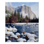 Winter Yosemite National Park Poster