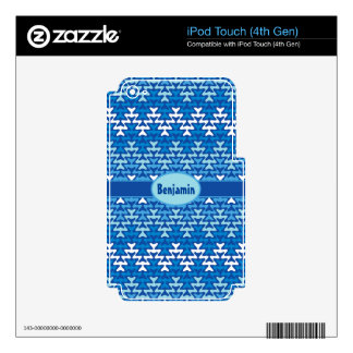 Winter Zigzag Decal For iPod Touch 4G