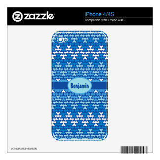 Winter Zigzag Decal For The iPhone 4S