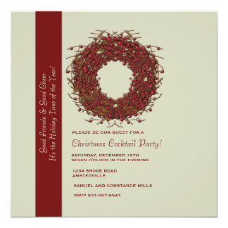 Winterberries Holiday Party Invitation
