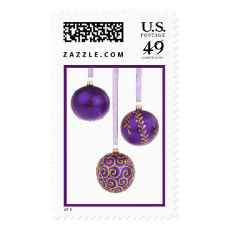 Winterberry Amethyst Purple Lavender Christmas Stamps