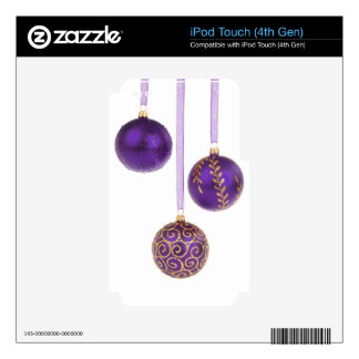 Winterberry Amethyst Purple Lavender Christmas iPod Touch 4G Decals