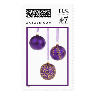 Winterberry Amethyst Purple Lavender Christmas Stamp