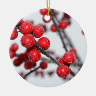 Winterberry Ceramic Ornament