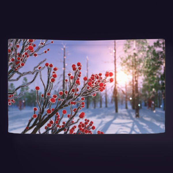 Winterberry in Ice Banner