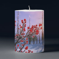 Winterberry in Ice Candle
