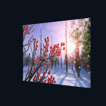 Winterberry in Ice Canvas Print