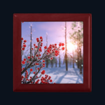 Winterberry in Ice Jewelry Box