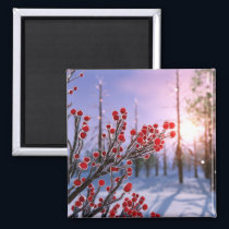 Winterberry in Ice Magnet