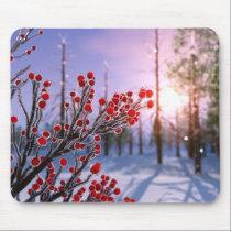 Winterberry in Ice Mousepad