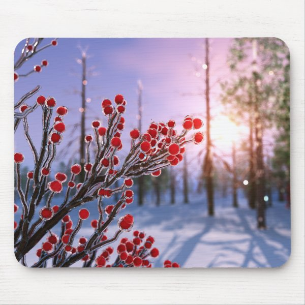 Winterberry in Ice Mousepad