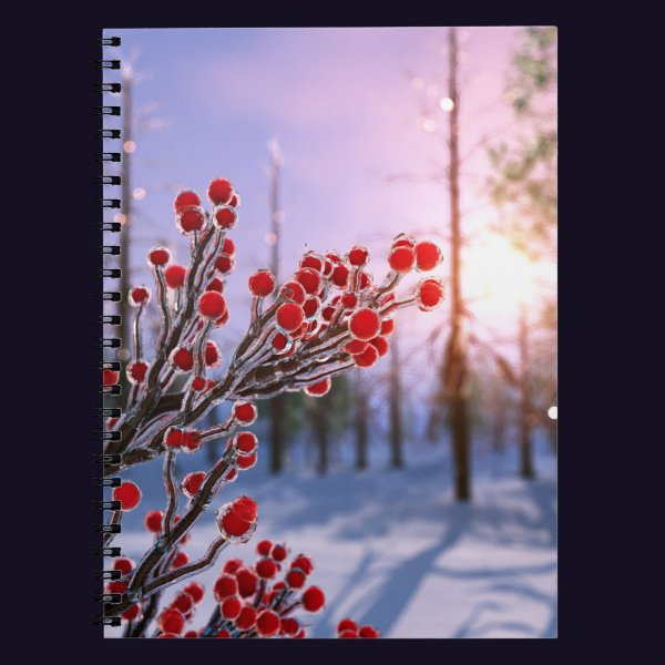 Winterberry in Ice Notebook