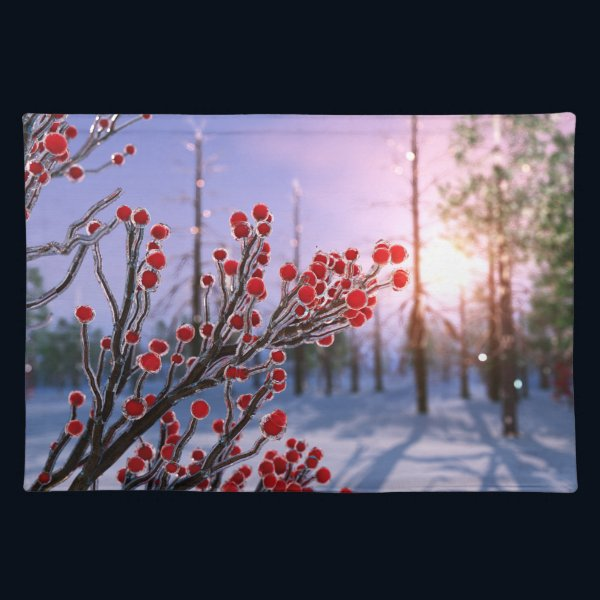 Winterberry in Ice Placemat