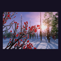 Winterberry in Ice Print
