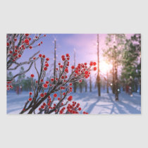 Winterberry in Ice Stickers