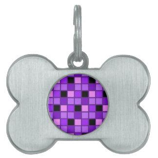Winterberry Lavender Purple Harlequin Designer Pet Name Tags