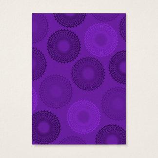 Winterberry Plum Violet Lace Doily Business Card