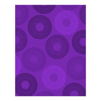 Winterberry Plum Violet Lace Doily Letterhead Template