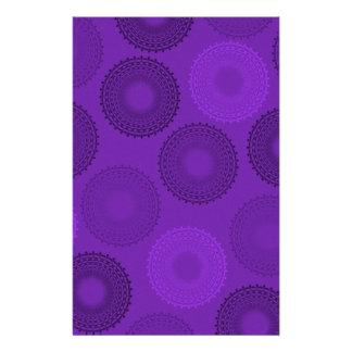 Winterberry Plum Violet Lace Doily Stationery Design